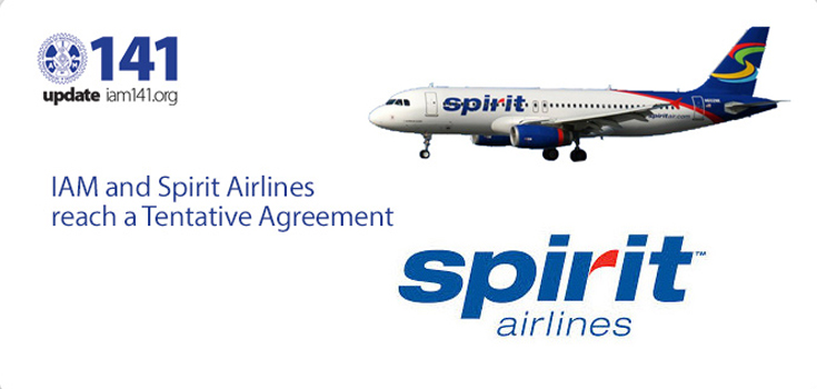 iam and spirit airlines reach tentative agreement