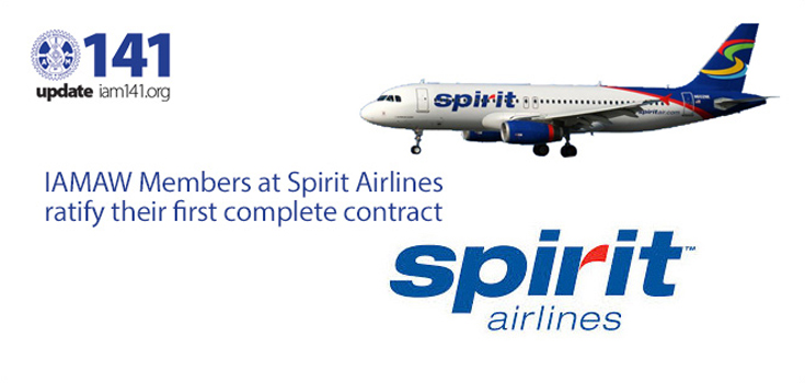 iamaw members spirit airlines ratify contract