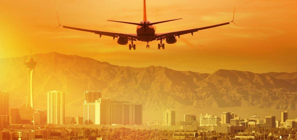 Airplane Las Vegas Skyline