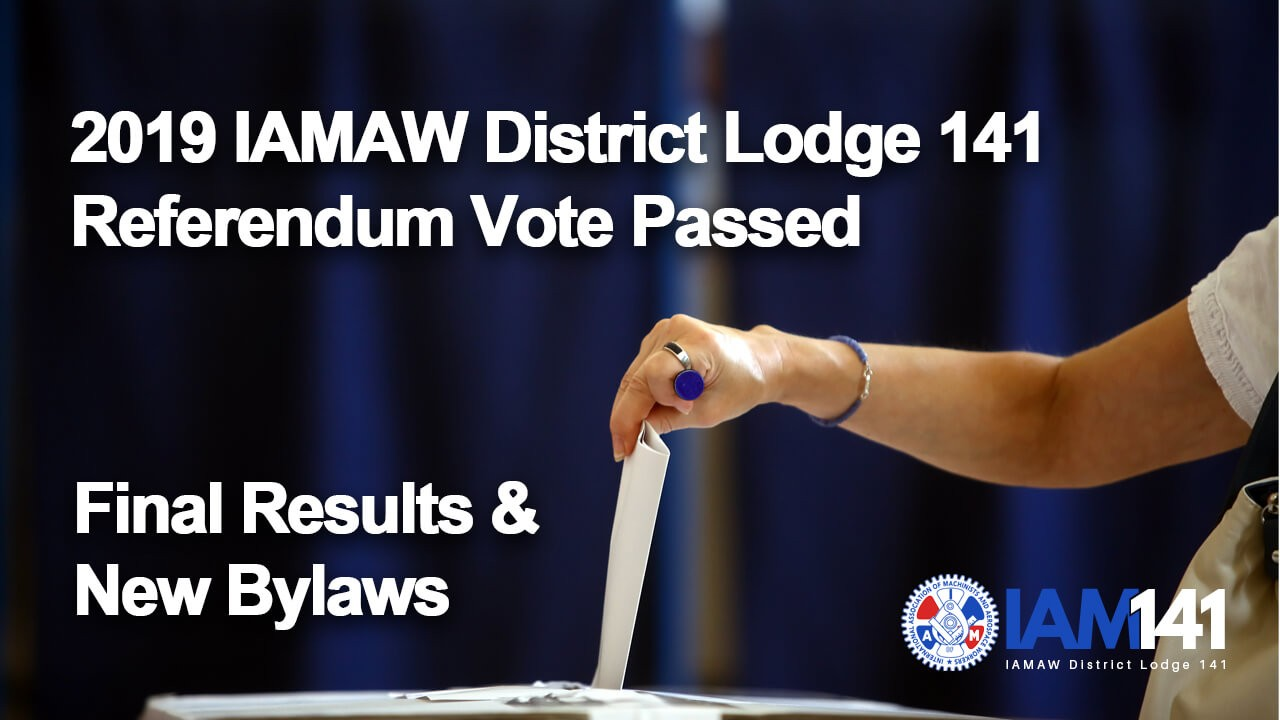 (Archives) 2019 Bylaw Referendum Vote Passed Final Results & New Bylaws