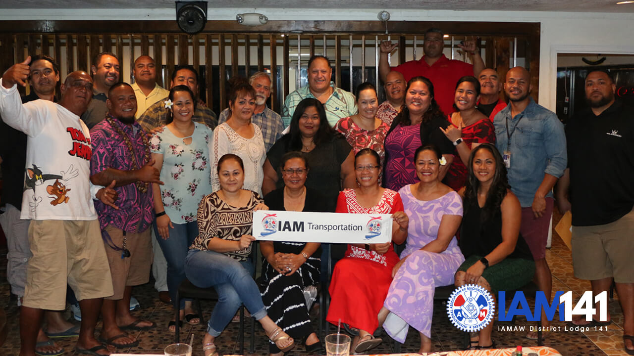 IAM District 141 Welcomes New Members South of the Equator