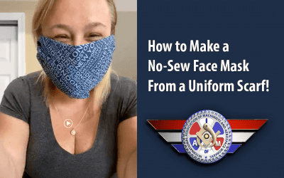 VIDEO: Make a Face Cover With a Uniform Scarf