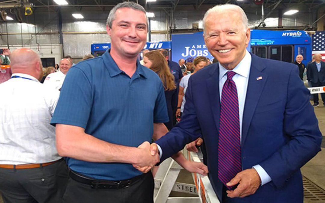 Machinists Union Member Meets President Biden